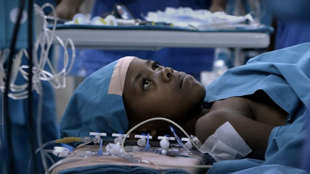 "PHOTO: Angelique, a 6 year old Rwandan girl, travels to Sudan to a state-of-the-art facility to undergo heart surgery. The film is a short documentary called ""Open Heart,"" nominated for an Academy Award"
