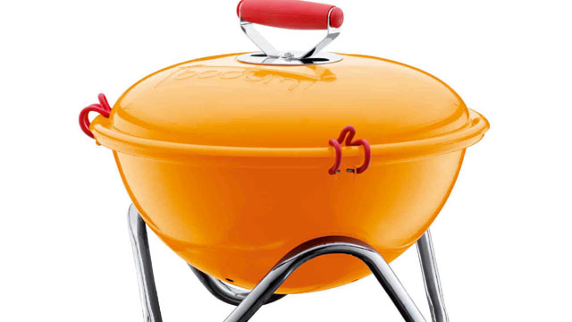 PHOTO: Bodum's FYRKAT portable grill is shown here.