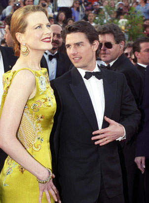 Nicole Kidman's Oscar Gown Nicole Kidman, with then-husband Tom Cruise,