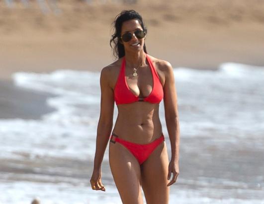 """""""Top Chef"""" Host Padma Lakshmi Rocks Red Bikini"""