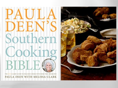 "PHOTO: The cover of ""Paula Deens Southern Cooking Bible"" by Paula Deen with Melissa Clark is shown."