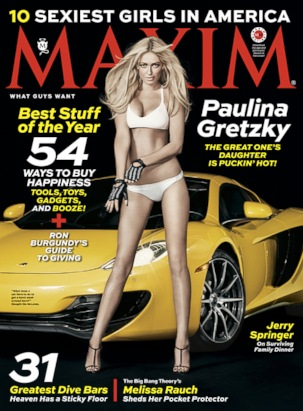 Paulina Gretzky covers the December issue of MAXIM