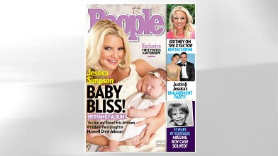 PHOTO: People cover with Jessica Simpson and son