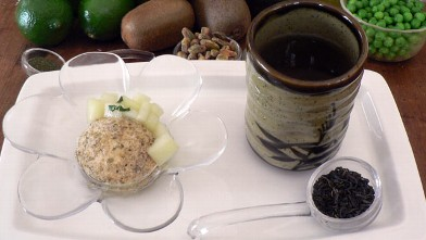 PHOTO: Diane Henderiks' pepita crusted frozen yogurt is shown here.