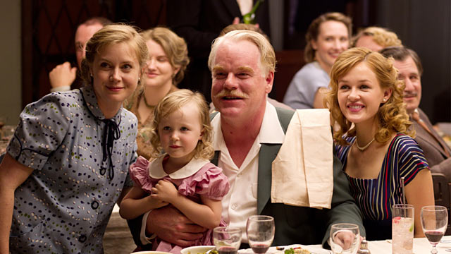 PHOTO: Phillip Seymour Hoffman and Amy Adams in The Master