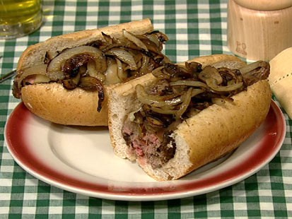 Daphne Oz's philly cheese steak is shown here.