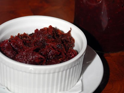 Laurence Edelman of Left Bank restaurant's pickled beet recipe is shown here.