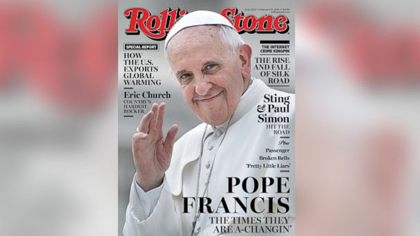ht pope francis rolling stone float kb 140128 16x9 608 Instant Index: Pope Francis Graces Rolling Stone Magazine Cover