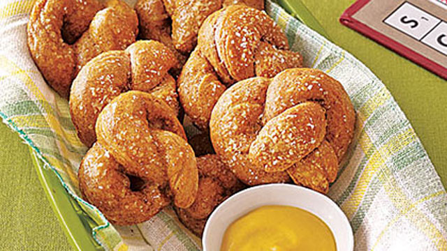PHOTO: MyRecipes baked soft pretzels are shown here.