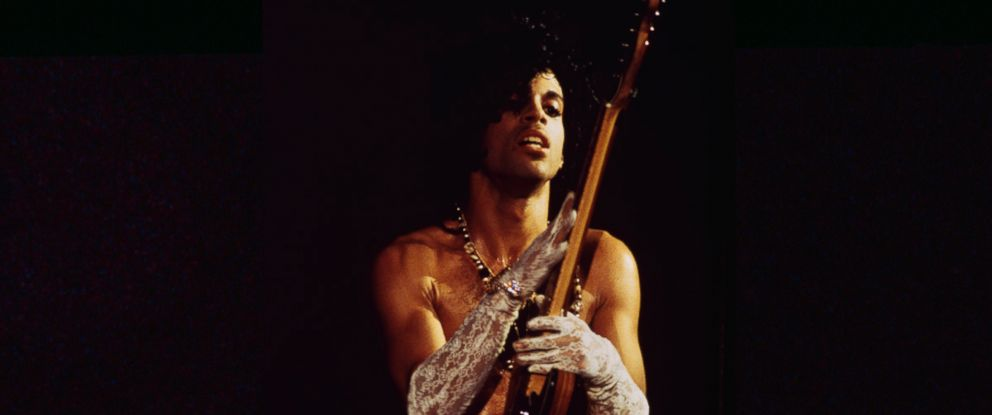 PHOTO: Prince performs on stage during his Purple Rain Tour.