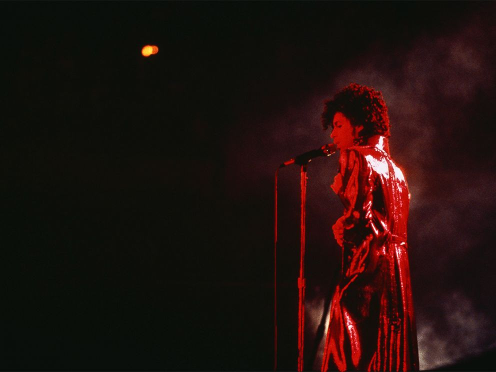 PHOTO: Prince performs onstage during his Purple Rain Tour.