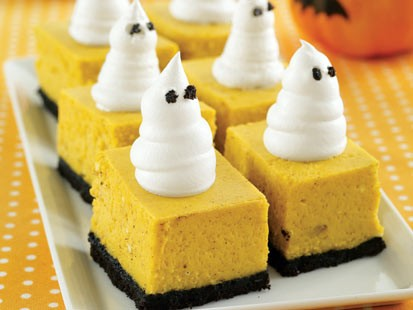 MyRecipes' pumpkin cheesecake bars are shown here.