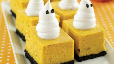 PHOTO:  MyRecipes' pumpkin cheesecake bars are shown here.
