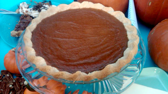 PHOTO: A holiday classic, Emeril's Pumpkin Custard Pie.