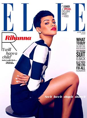 Rihanna On the Cover of Elle UK