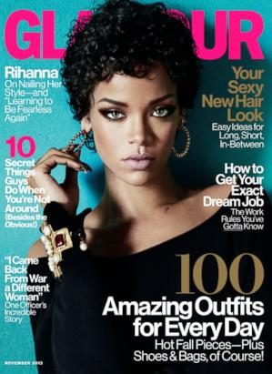 Rihanna Rocks the Cover of Glamour