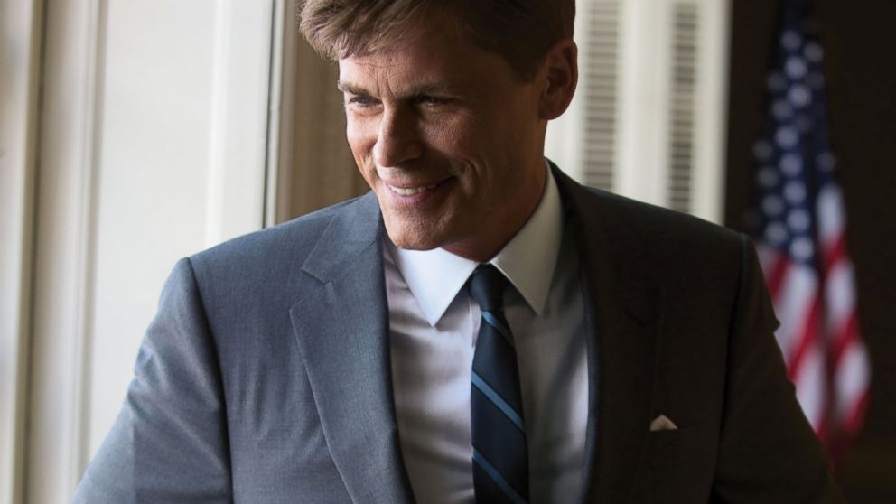 "PHOTO: Rob Lowe as President John F. Kennedy on the set of ""Killing Kennedy""."