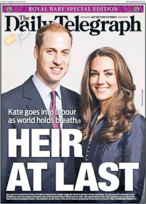 Royal Baby Headlines