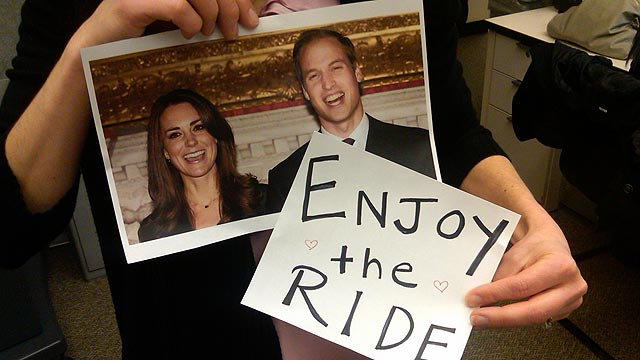 PHOTO: A photo of Kate Middleton and Prince William.