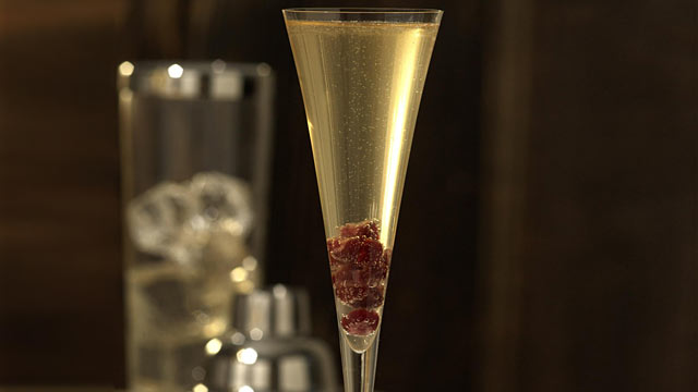 PHOTO: The ruby slipper cocktail from Barefoot Bubbly is shown here.