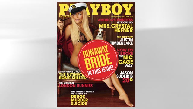 PHOTO: Crystal Harris is shown on the July cover of Playboy Magazine.