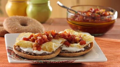 PHOTO: Thomas English Muffins' Santa Fe bagel thins bagel is shown here.