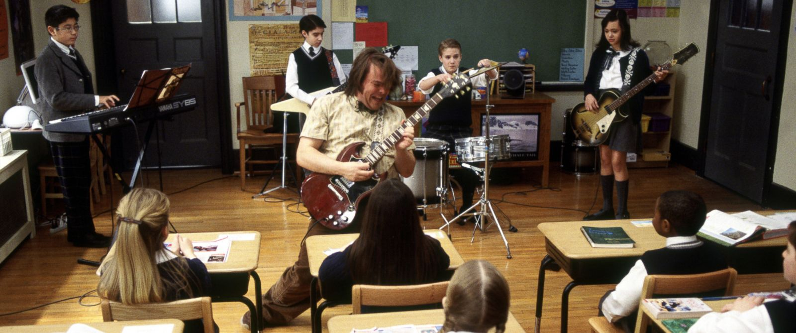 "PHOTO: Jack Black as Dewey in 2003s ""School of Rock"" from Paramount Pictures."