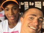 Serena Williams Shares a Selfie with Colton Haynes