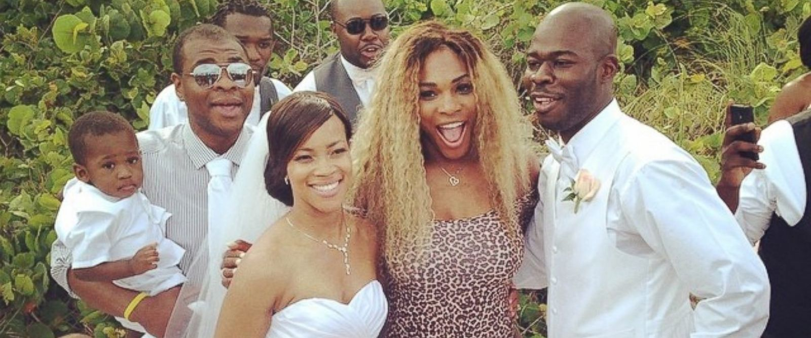 """PHOTO: Serena Williams posted this photo on Instagram on May 30, 2014 with the caption, """"Wedding crasher!! Congrats!"""""""