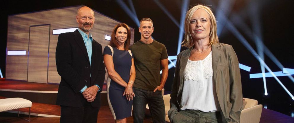 """PHOTO: From left, Phillip Hodson, Tracey Cox, Dan Savage, and Mariella Frostrup star in the U.K.s """"Sex Box."""""""