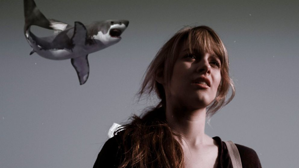 "PHOTO: Aubrey Peeples stars as Claudia in ""Sharknado."""