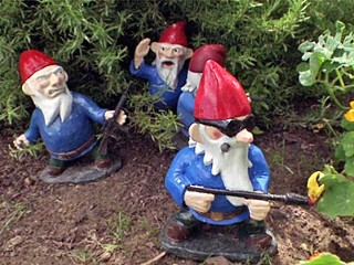 Creator Hand-Makes Garden Gnomes in Combat Poses