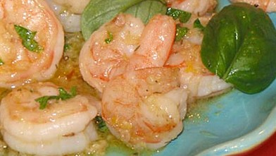 PHOTO: Julia Child's Shrimp in Lemon and Garlic.