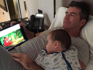 Simon Cowell and His Son Eric Snuggle Up for a Movie