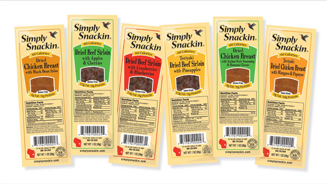 PHOTO: Simply Snackin's dried chicken breast is shown here.