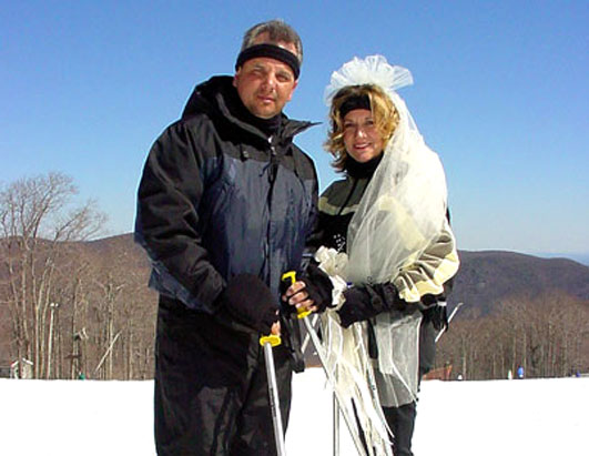 Unusual weddings Ski