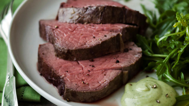 PHOTO: Ina Garten's slow-roasted beef tenderloin is shown here.