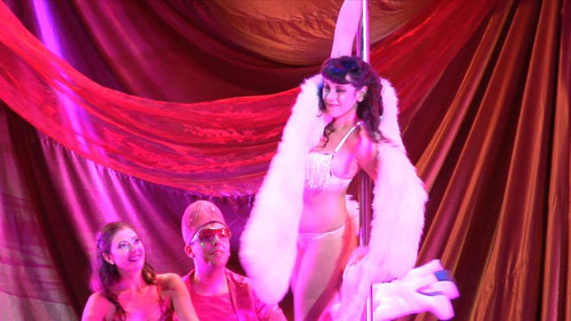"PHOTO: Pole-dancing scene from the Somerville Theater's ""Slutcracker."""