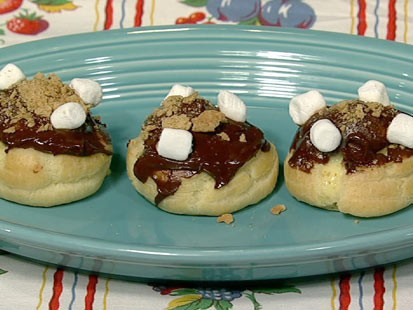 Carla Hall's s'mores cream puffs are shown here.