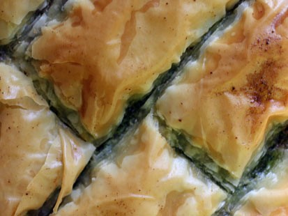 Rachel Willen's spanakopita is shown here.