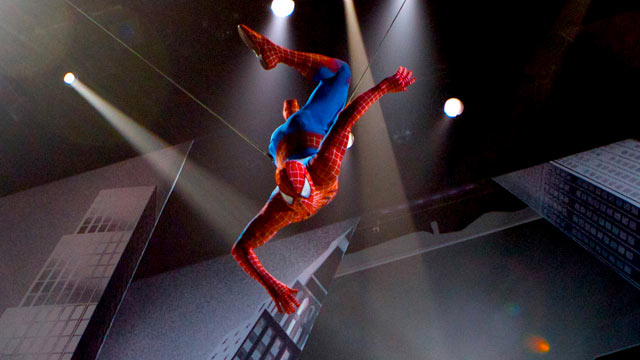 PHOTO: Spider-Man makes his New York debut. A scene from SPIDER-MAN Turn Off The Dark