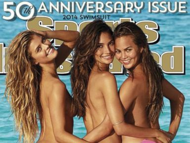 PHOTO: The 50th anniversary swimsuit edition of Sports Illustrated features Nina Agdal, Lily Aldridge and Chrissy Teigen.