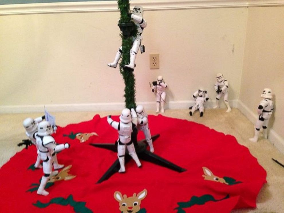Family Uses 'Star Wars' Stormtroopers to Help Decorate for ...