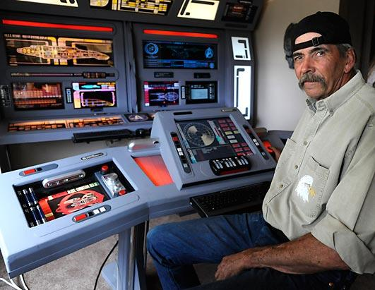 PHOTO Steve Doman builds a command center in his home in Guffey, CO
