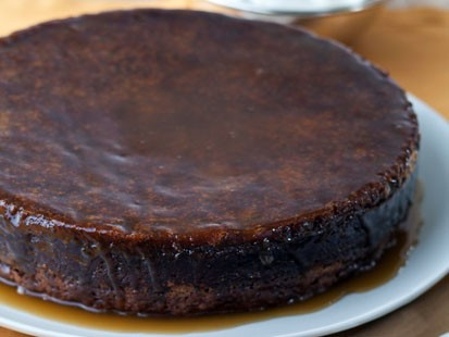 ina garten's sticky toffee date cake with bourbon glaze | recipe