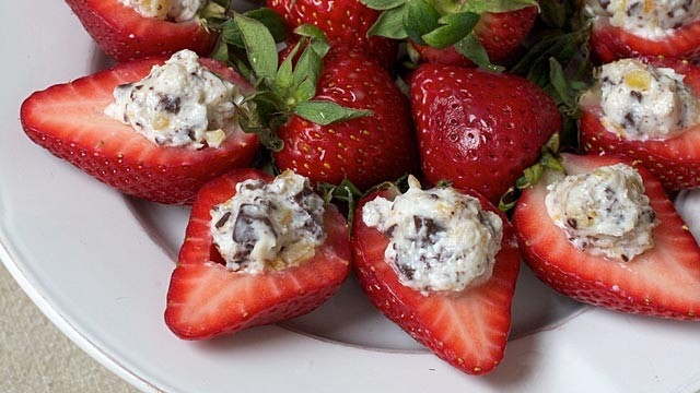 PHOTO: Sara Moultons stuffed strawberries are shown here.