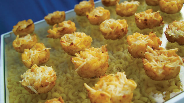 PHOTO: Andrea Correale's mac and cheese bites are shown here.