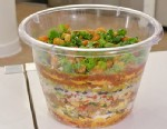 PHOTO: BuzzFeeds 47-layer Super Bowl dip is shown here.