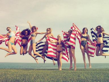 PHOTO: Taylor Swift uploaded this photo to Instagram on July 3, 2015 with the caption, Happy 4th from me, @gigihadid, @marhunt, @britmaack, @serayah and @haimtheband :).