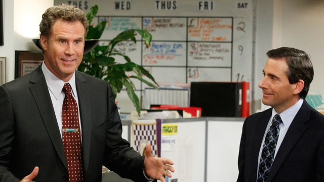 PHOTO:&nbsp;Will Ferrell as Deangelo Vickers and Steve Carell as Michael Scott in The Office